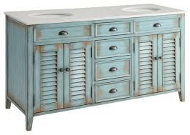 Cottage Style Bathroom Vanities by Abbeville Cottage Double Sink Vanity Blue 60