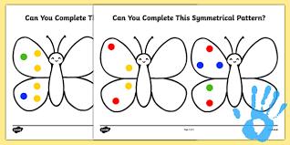complete a symmetrical butterfly pattern fingerprint activity