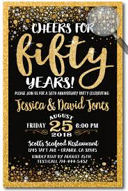 anniversary party invitations cheers for 50 years gold anniversary party invitations di 4606