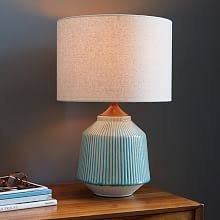 Turquoise Table Lamp Modern Table Lamps West Elm