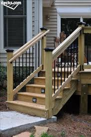 How To Install A Banister Best 25 Deck Stair Railing Ideas On Pinterest Deck Deck