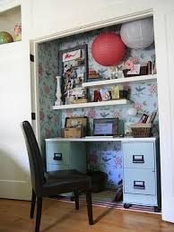 Office In A Closet Design Home Design - Closet home office design ideas