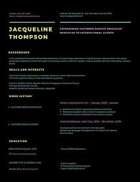 Resume For Customer Service Specialist Black With Colorful Customer Service Resume Templates By Canva