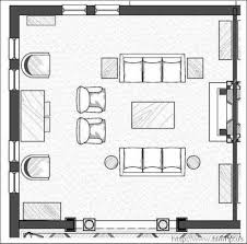 paper furniture layout on graph paper floor plan of living room