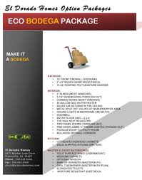 eco series modular home and manufactured home option packages