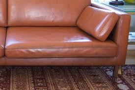 Paint On Leather Sofa Diy Project Results Can You Paint A Leather Sofa Apartment Therapy