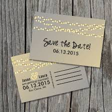 save the date postcard save the date postcard string of lights rustic wedding