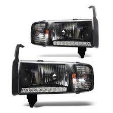 02 dodge ram headlights 01 dodge ram 1500 black housing led headlights