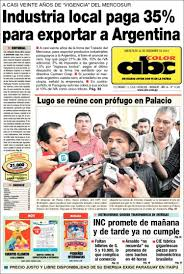 newspaper abc color paraguay front pages newspapers