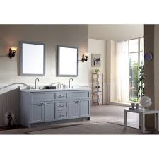 Quartz Vanity Tops Ariel Bath F073d Wq Gry Hamlet 73 Double Sink Vanity Set In Grey