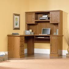 Sauder Corner Desk Solid Wood Computer Desk With Hutch Sauder Harvest Mill L