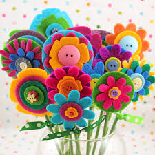 felt flowers www happinessishomemade net wp content uploads 201