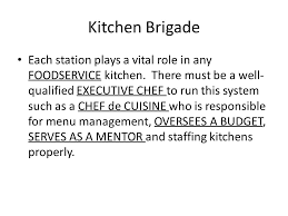 commis de cuisine definition organization of the modern kitchen ppt