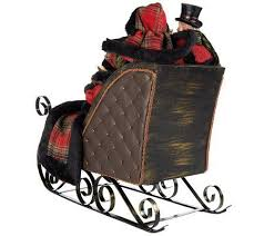 4 dickens carolers in sleigh by valerie qvc d i y