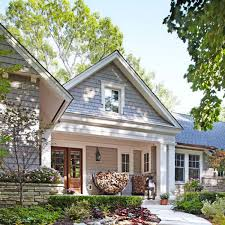 before and after remodeled ranch house from traditional home
