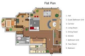 Free Office Floor Plan by Building Plan Software Create Great Looking Building Plan Home