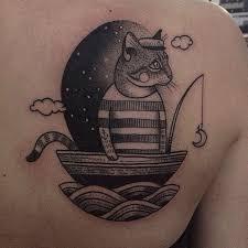 tatouage chat tatouage chat marin