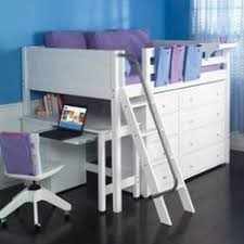 Loft Bed With Desk For Teenagers Girls Loft Beds For Teens Berg Furniture Play And Study Loft Bed