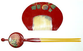 japanese hair pin japanese antique hair accessory comb and hair pin adornmet set