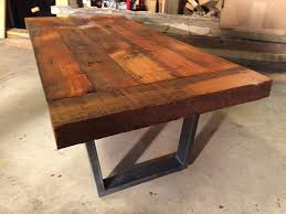 rustic metal coffee table rustic coffee table made with salvage wood and steel legs revival