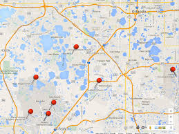 Map Of Orlando by Discover Jewish Orlando Map Of Jewish Orlando Discover Jewish