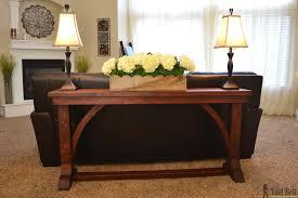 Diy Sofa Table Sofa Glamorous Diy Sofa Table Plans Build A Farmhouse Furniture