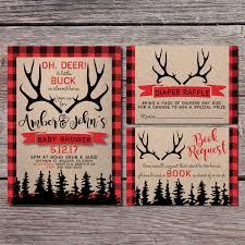 buck and doe invitations hunter baby shower invitation hunting baby shower invitation