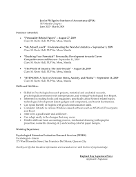 Psychology Resume Examples by Latest Resume