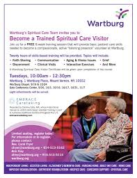 become a spiritual care visitor free 8 week course wartburg