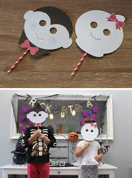 Halloween Monster Masks by The Sugar Bee Bungalow Party Bee Halloween Monster Masks