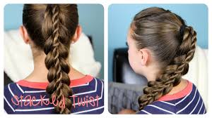 by hairstyle stacked twist ponytail cute girls hairstyles youtube