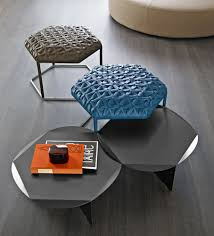 contemporary ottoman steel leather modular hive by atelier