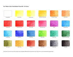 amazon com sakura xncw 24n 24 assorted watercolors field sketch