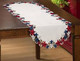 collections etc americana patriotic table runner
