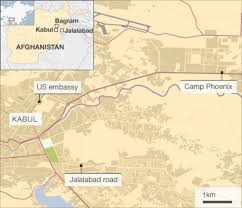 bagram air base map six dead in afghanistan koran burning protests