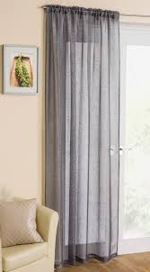 Glitter Curtains Ready Made Casablanca Grey Voile Panel From Net Curtains Direct