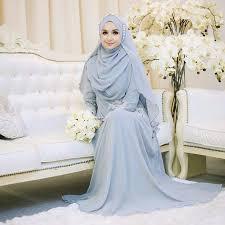 tutorial hijab syar i untuk pengantin 7 inspirasi gaun pengantin muslimah yang syar i dan elegan yukepo com