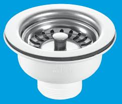 Basket Strainer Waste Clicker McAlpine Plumbing Products - Kitchen sink waste fittings