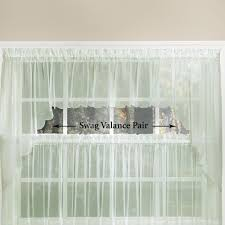 sheer window treatments emelia sheer swag valances and window treatments