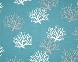 Nautical Curtain Fabric Coastal Fabric Etsy