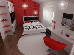 interior extraordinary red black and white kitchen decoration