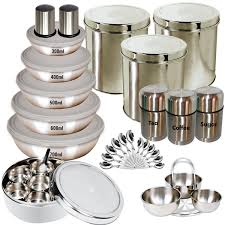 Stainless Steel Kitchen Set by Buy Branded 35 Pcs Stainless Steel Storage Set Online At Best