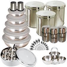 best kitchen items buy branded 35 pcs stainless steel storage set online at best