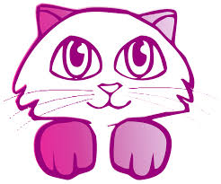 free illustration cat drawing cute pink free image on