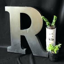 wall ideas metal wall letters decor metal initial letters wall