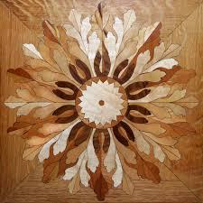 floor medallions wood floor designs inlays borders parquet
