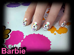 calavera nails nail design of sugar skull from the mexican