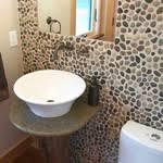 Polished Cobblestone Pebble Tile Pebble Tile Shop - Pebble backsplash