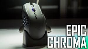 light up wireless gaming mouse razer naga epic chroma wireless mmo gaming mouse review youtube