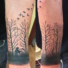 dead trees birds by jon reed all saints tx